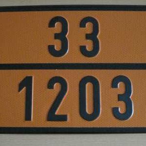 """285 1 300x300 - Placa mercancía peligrosa """"Gasolina"""""""