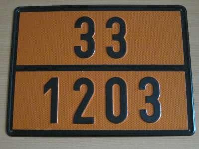 """285 1 - Placa mercancía peligrosa """"Gasolina"""""""