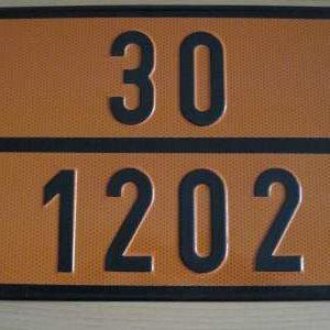"286 1 300x300 - Placa mercancía peligrosa ""Gasóleos"""