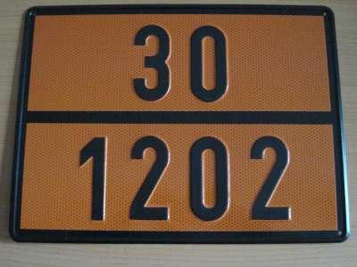 "286 1 - Placa mercancía peligrosa ""Gasóleos"""