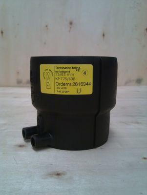 446 1 - Manguito cierre doble contenimiento sin válvula 75/63 mm.