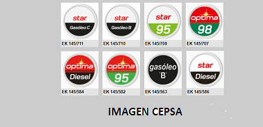 CEPSA - Chapas identificativas EF-EK145