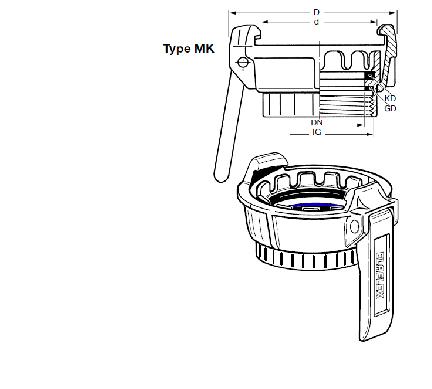 MK - Boca de carga EF-VB + EF-MK + EF-K