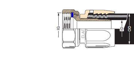 RACORM3 - Racor desmontable cromado EF-Mxx Cr hembra