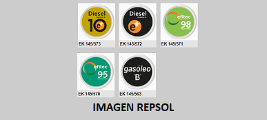REPSOL - Chapas identificativas EF-EK145