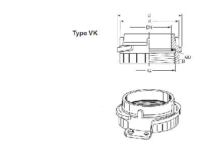 VK - Boca de carga EF-MB AL + EF-VK + EF-K