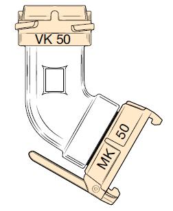KR50 - Tubo codo con acoplamientos EF-KR50 AL