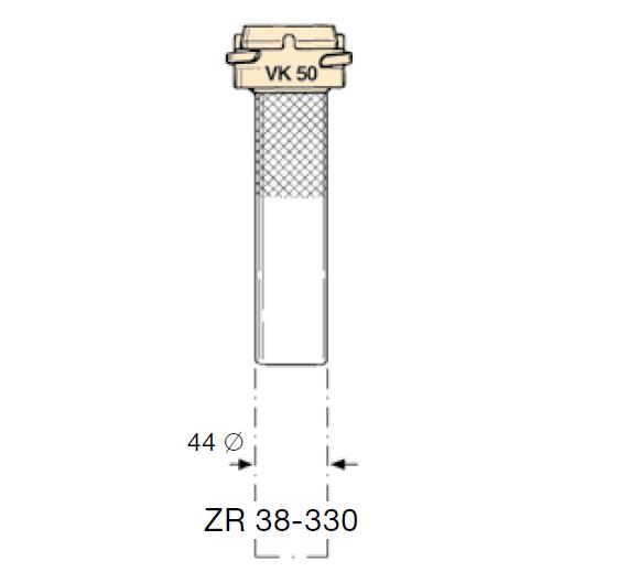 ZR398.330 - Tubo con acoplamiento EF-ZR38-330
