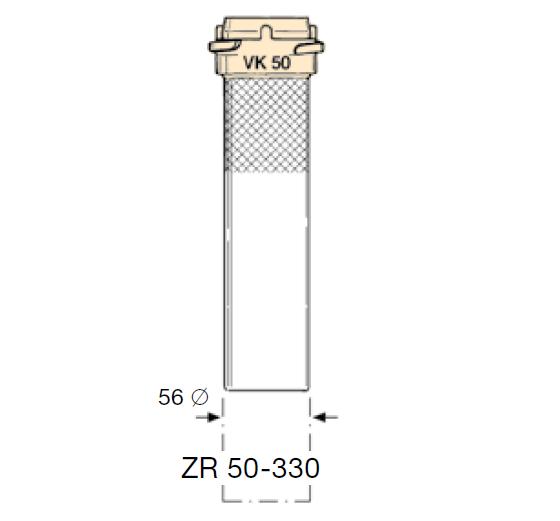 ZR50.330 - Tubo con acoplamiento EF-ZR50-330