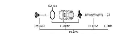 EA055 1 - Conjunto válvula EF-EA055
