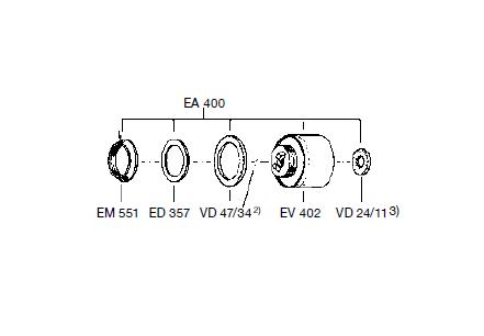 EA400 1 - Conjunto pistón ZV400/500 EF-EA400