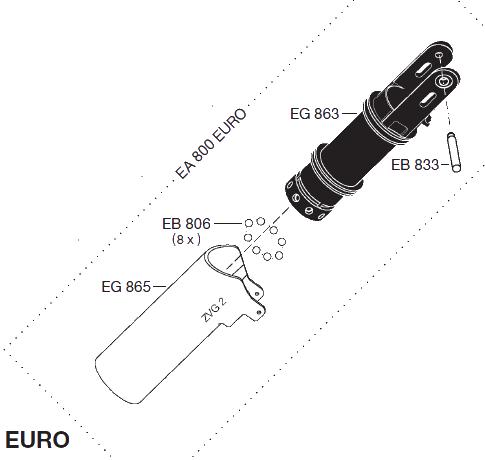 EA800EURO - Boquilla GLP EF-EA800 EURO