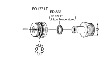 EA820M30M30 - Rótula giratoria EF-EA820.M30M30