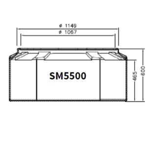 BASE 300x300 - Base arqueta tanque mod. TCI, TC-SM5500