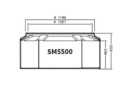 BASE - Base arqueta tanque mod. TCI, TC-SM5500